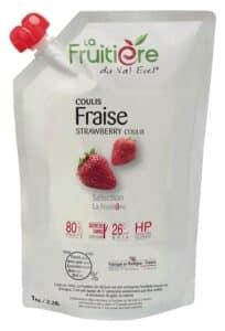 Coulis de Fraise réfrigéré 20% de sucre de canne