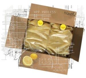 Purée de Citron jaune réfrigérée sans sucre ajouté