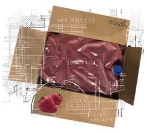Purée de Fraise réfrigérée sans sucre ajouté multi format
