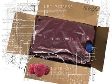 Purée de Framboise réfrigérée sans sucre ajouté multi format